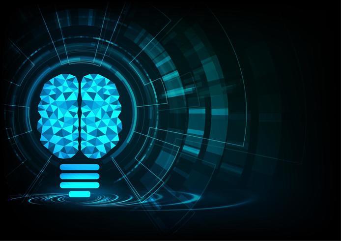 Intelligence artificielle Visualisation de la connexion neuronale vecteur