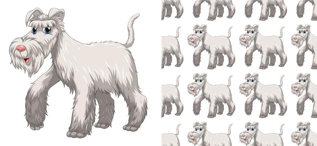 Motif de chien sans soudure et isolé vecteur