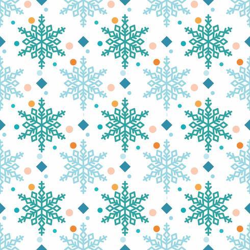 motif flocon de neige avec diamants et pois vecteur