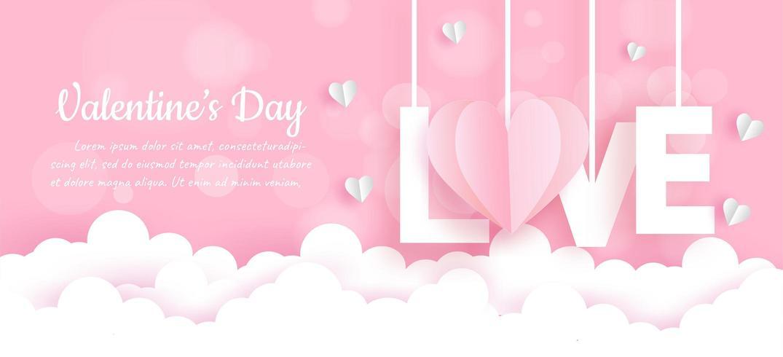Bannière de la Saint-Valentin vecteur