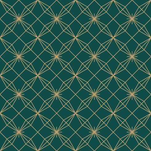 motif de fleur simple étoile art déco sans soudure vecteur