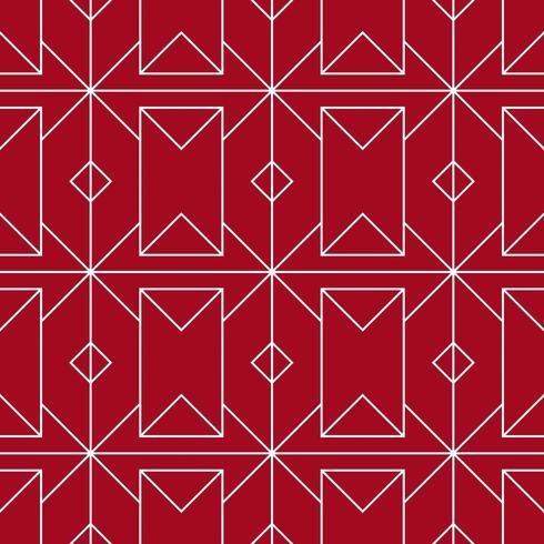 motif géométrique sans couture rouge et blanc vecteur