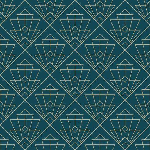 simple motif géométrique sans couture art déco vecteur