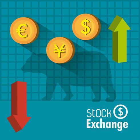 Bourse des affaires vecteur
