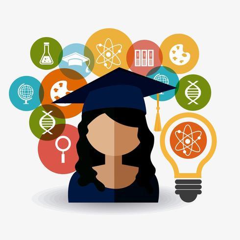 Conception de la remise des diplômes vecteur