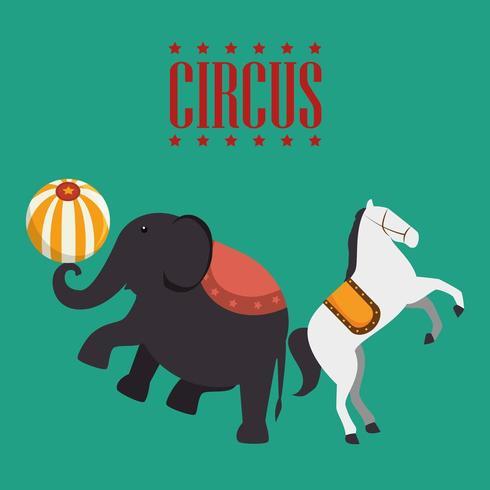 Elephant cirque icon vecteur
