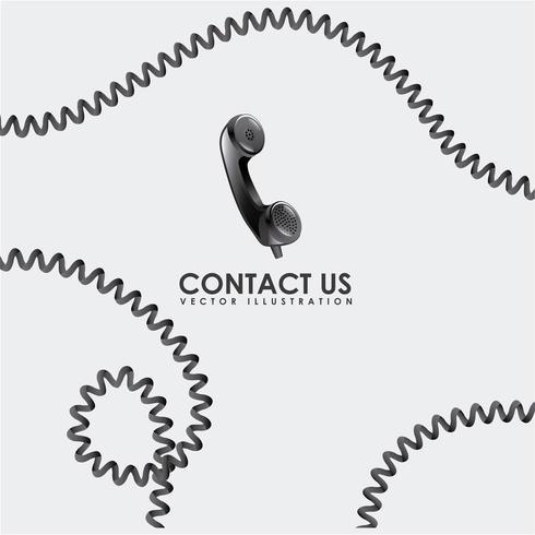 nous contacter design vecteur