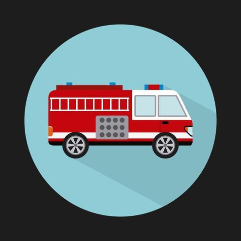 conception de camion de pompiers vecteur