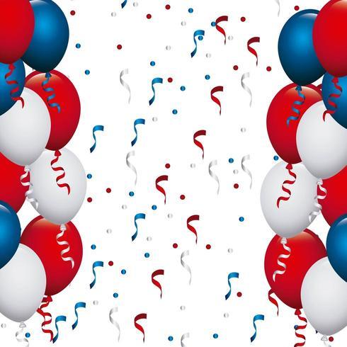 Ballons de couleur USA vecteur