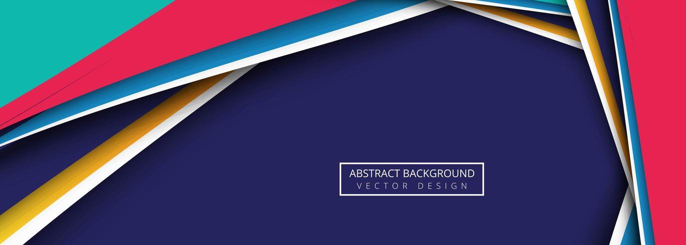 Arrière-plan de modèle bannière vague colorée moderne vecteur