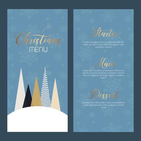 Conception de menus de Noël décoratifs vecteur