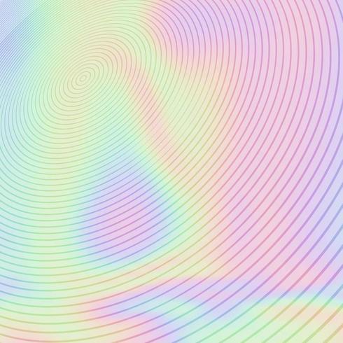 Dessin circulaire sur texture holographique vecteur