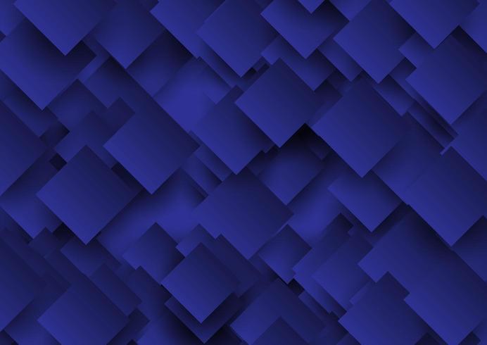 Dessin abstrait de carrés superposés vecteur