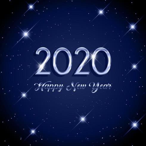 Bonne année fond étoilé vecteur