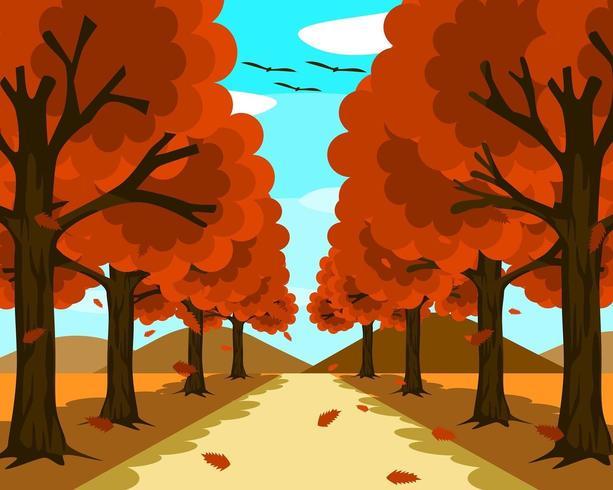 Une petite et belle route en pleine nature vecteur