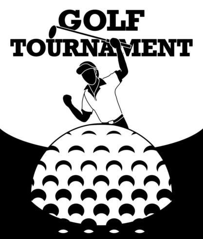 Une image d'un golfeur heureux de frapper la balle dans le trou et d'obtenir des points. vecteur