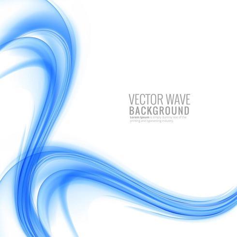 Vague de business bleu élégant moderne sur fond blanc vecteur