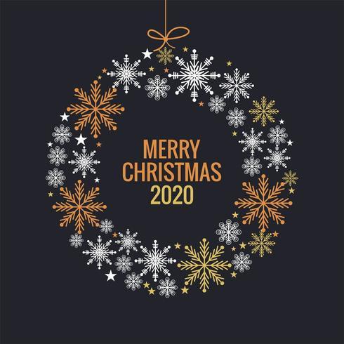 Fond de boule de flocons de neige colorés Noël et nouvel an vecteur