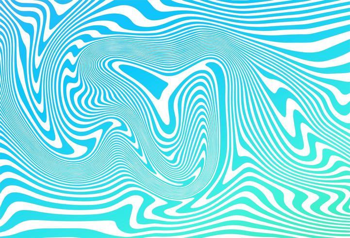 Zig zag lignes bleues diagonales vague fond vecteur