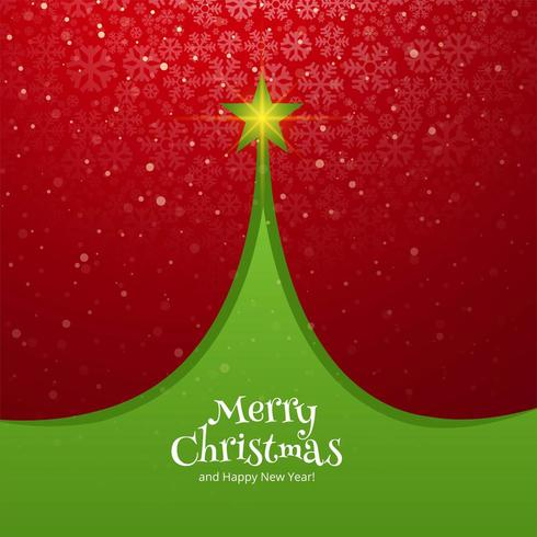 Fond de vacances belle carte arbre de Noël célébration vecteur