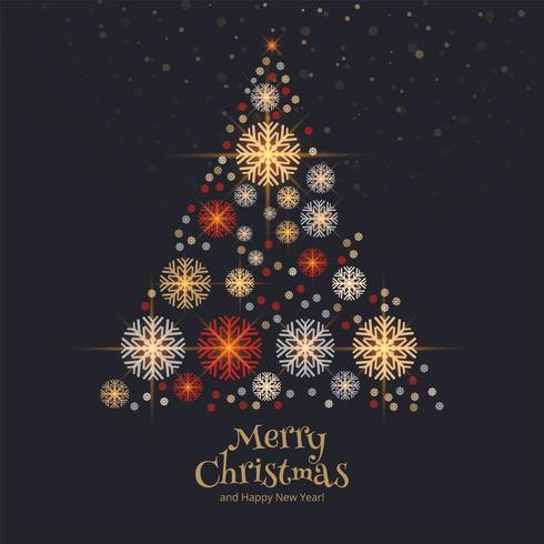 Fond de carte sapin de Noël décoratif vecteur