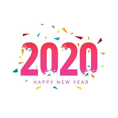 Modèle de carte de voeux bonne année 2020 vecteur