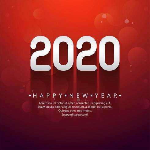 Conception de texte de célébration nouvel an 2020 vecteur