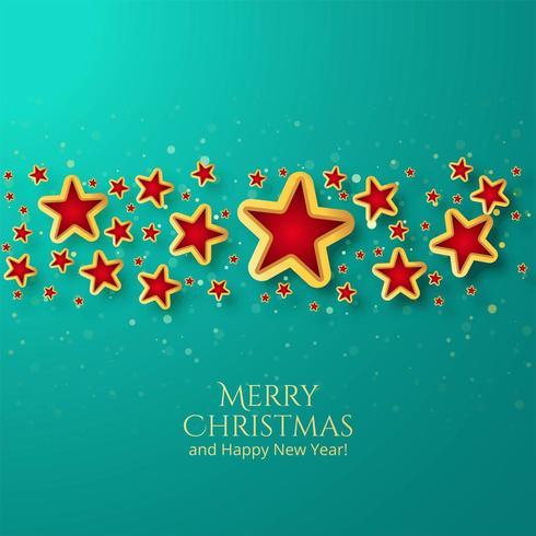 Beau fond d'étoile de carte de Noël vecteur