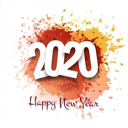 Carte de voeux de bonne année 2020 vacances d'hiver vecteur