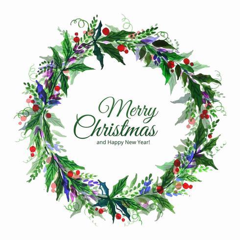 Joyeux Noël décoratif feuille célébration fond vecteur
