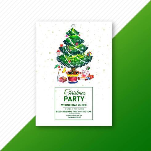 Arbre de Noël vert vecteur