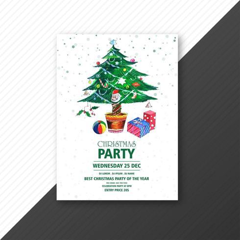 Arbre de Noël avec la conception de brochure festival fête de Noël vecteur