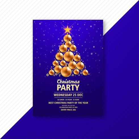 conception de carte modèle créatif flyer de Noël vecteur