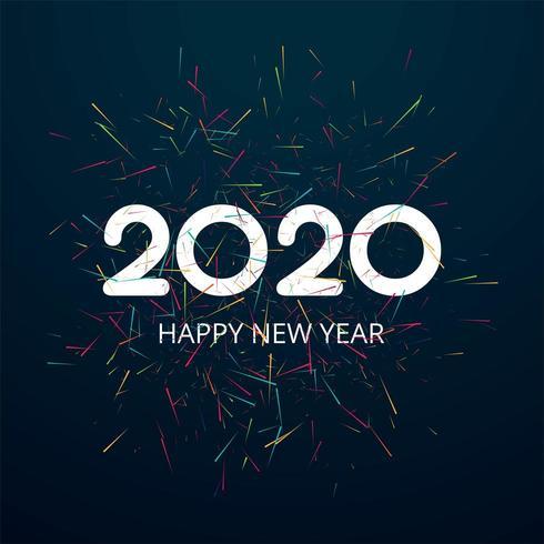 Carte de célébration 2020 bonne année design vecteur