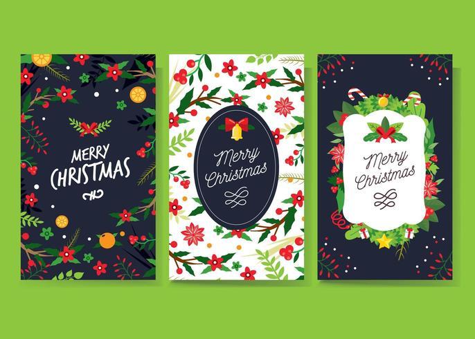Noël collection de cartes de voeux vecteur