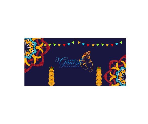 Heureux festival de Ganesh vecteur