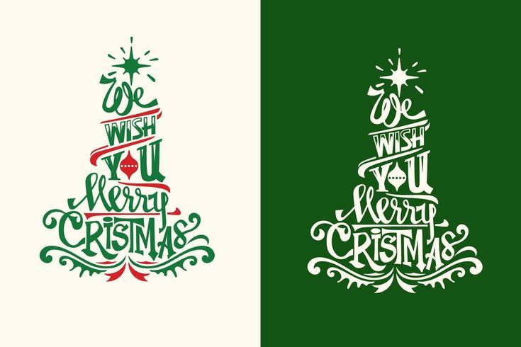 Nous vous souhaitons un Joyeux Noël vecteur