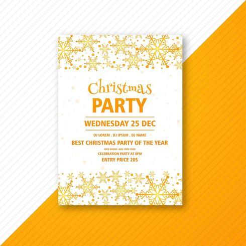 conception d'affiche pour la fête de Noël vecteur