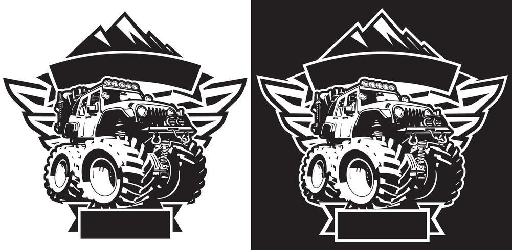 Modèle de t-shirt 4x4 Off Road Sign vecteur