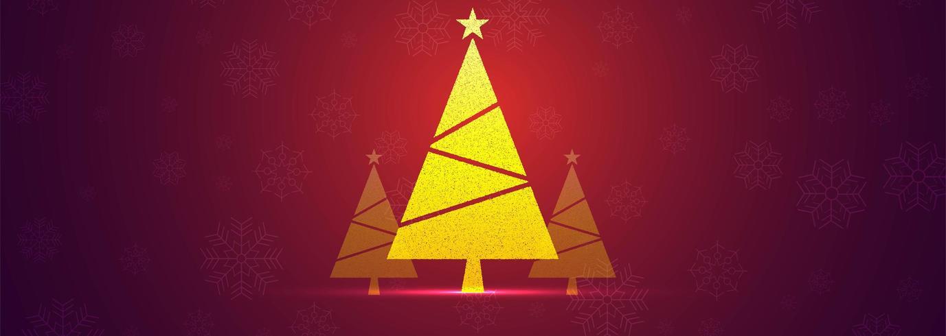 Vecteur de fond belle bannière arbre de Noël