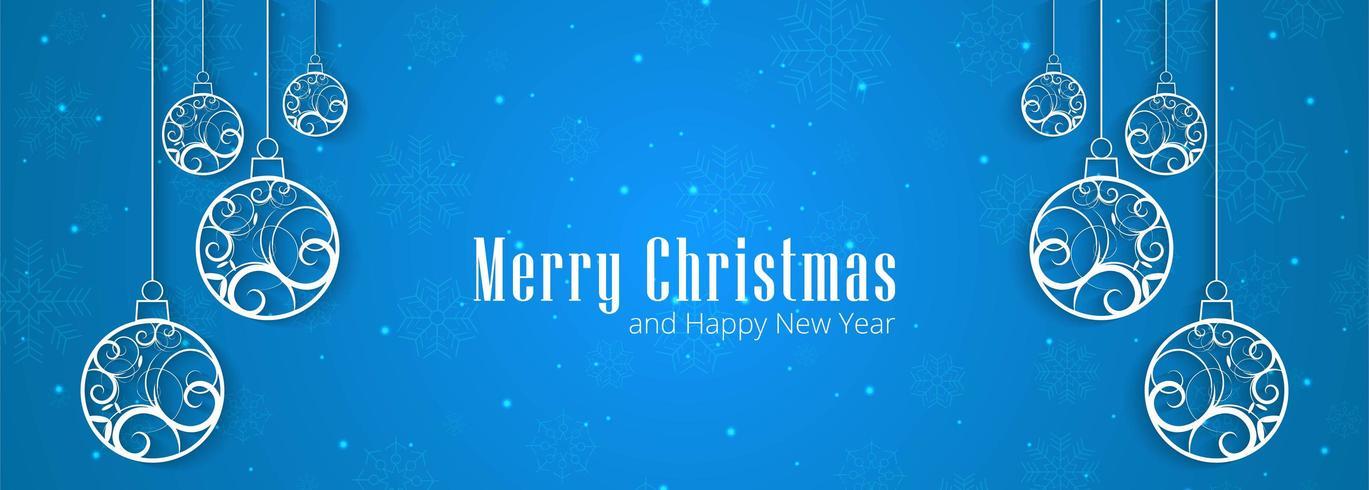 Arrière-plan de conception bannière joyeux Noël flocons de neige vecteur