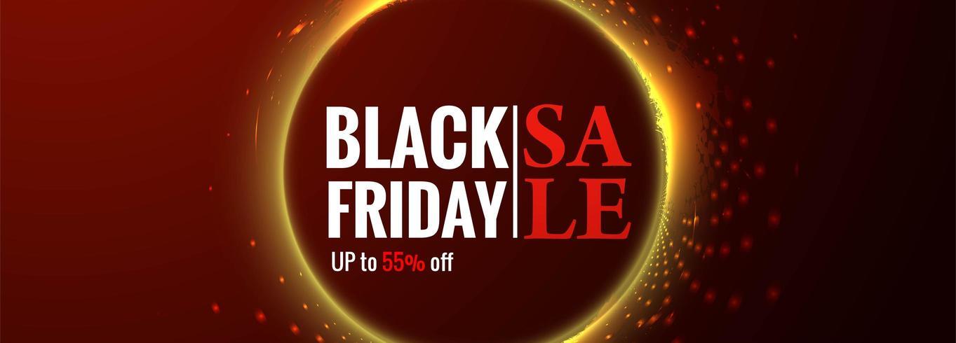 Black Friday Affiche ou fond de promotion de vente de bannière vecteur