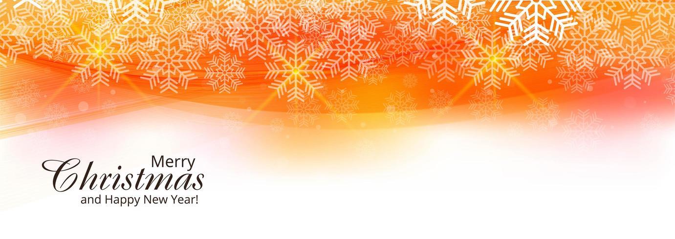 Beau modèle de bannière de festival de carte de Noël vecteur