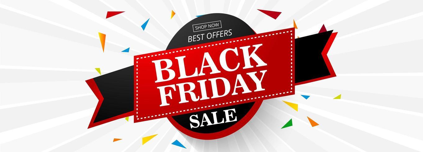 Illustration vectorielle de vendredi noir vente bannière mise en page design vecteur