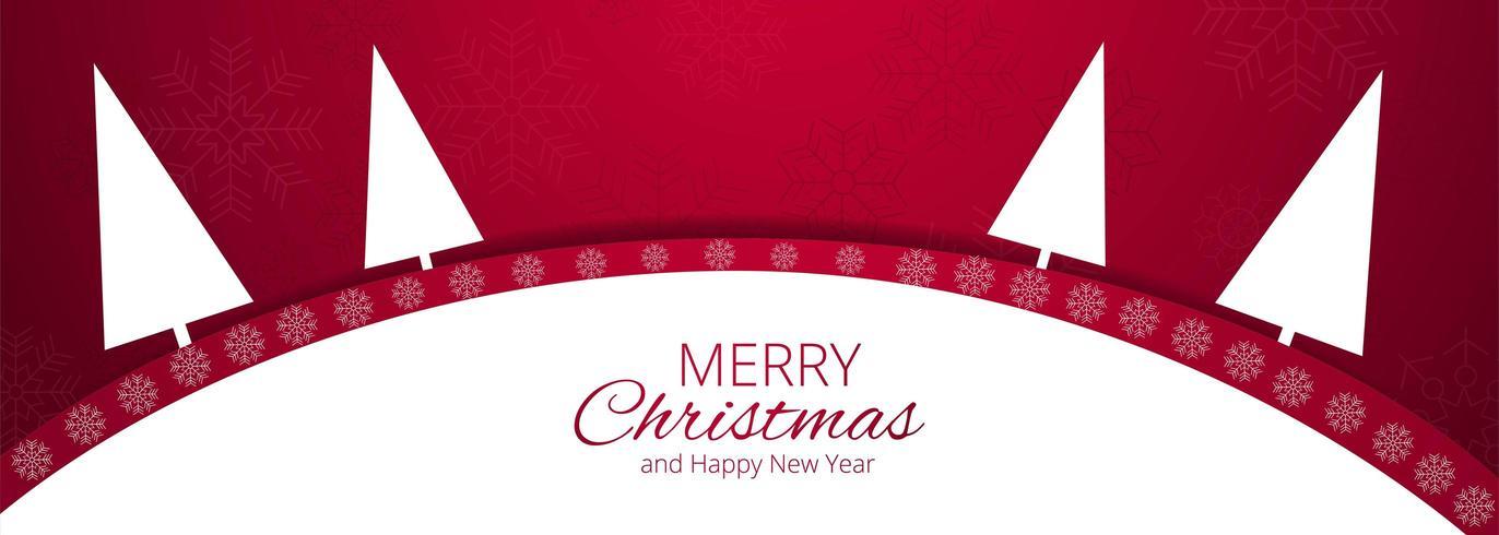 Fond de joyeux Noël pour fond de bannière éléments de Noël vecteur