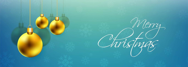Fond de bannière colorée belle boule de Noël décorative vecteur