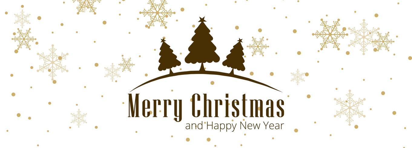 Vecteur de fond bannière carte de Noël célébration