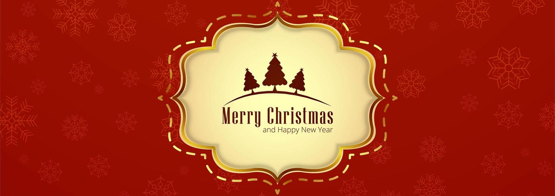 Belle conception de modèle de bannière de fond joyeux Noël vecteur