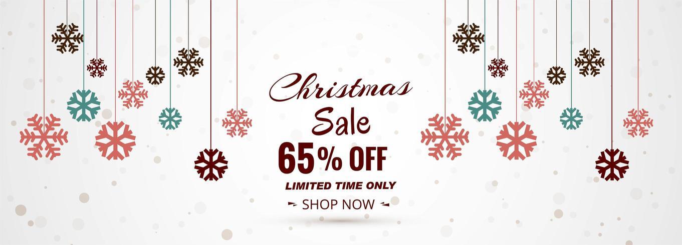 Bannière de vente joyeux Noël vecteur