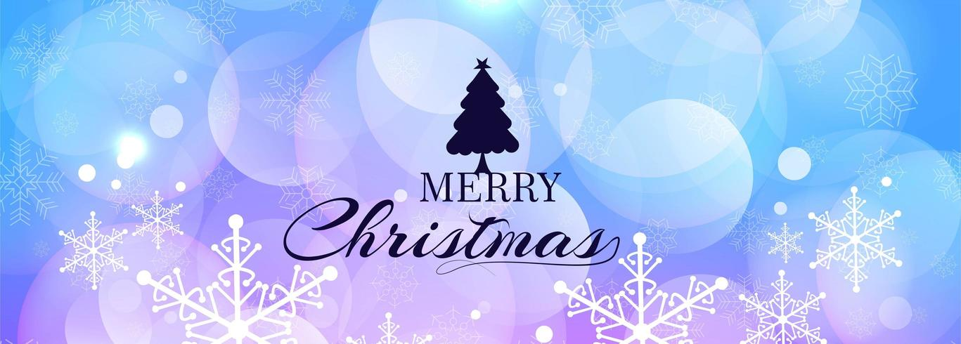 Joyeux Noël bannière fond horizontal vecteur
